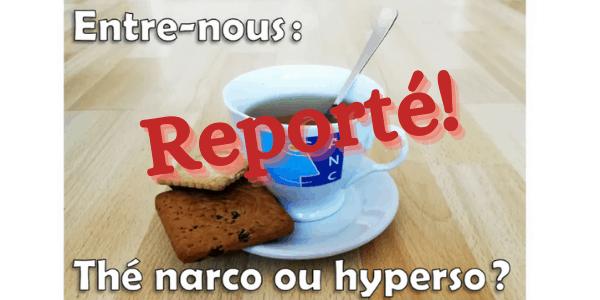 "Ile-de-France - ""Entre nous : thé narco ou hyperso"" - novembre 2020"